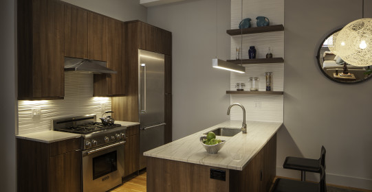 2/18/2014 Hoboken, NJ.  729 Madison kitchen, hearth, and hallway for Robert Jenny Design.