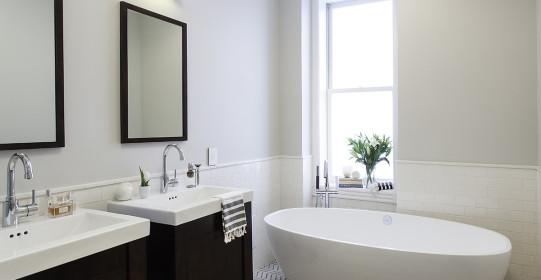 2/26/2014 Hoboken, NJ.  Robert Jenny Builders bathroom and kitchen.