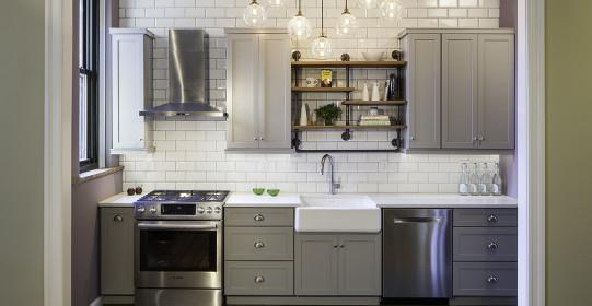 4/28/15 Hoboken, NJ. Kitchen renovation in Hoboken for Robert Jenny Design.